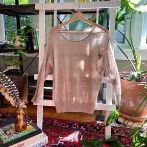 Anthropologie Knitted & Knotted 100% wool sweater